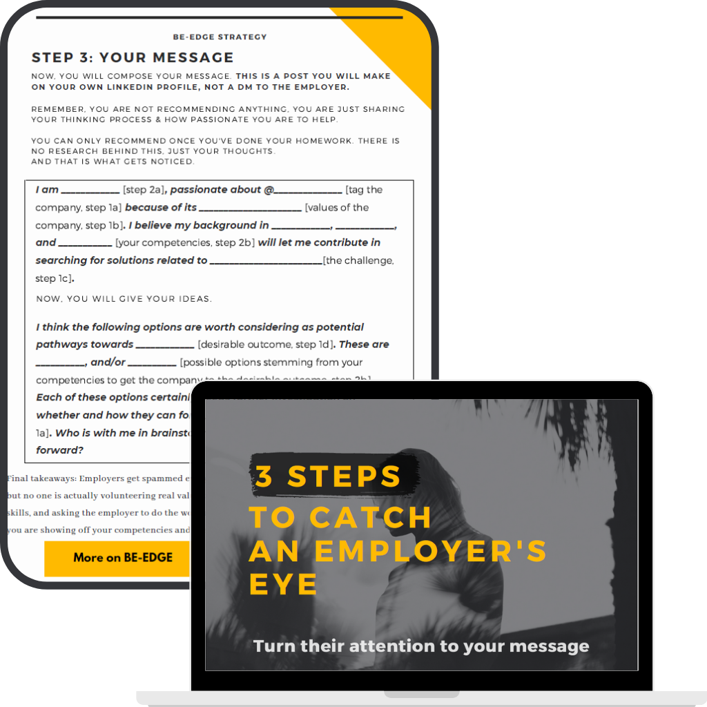 3 steps to catch an employers eye